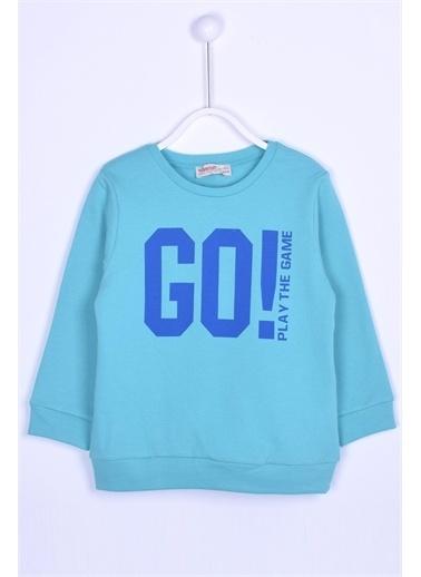 Silversun Kids Sweat Shirt Örme Uzun Kollu Baskılı Sweatshirt Erkek Çocuk Js-212815 Yeşil